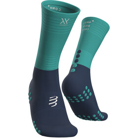 Compressport Calze A Compressione Media, blue/iceblue
